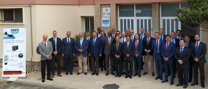 Agregados de Defensa de 17 países visitan SAES
