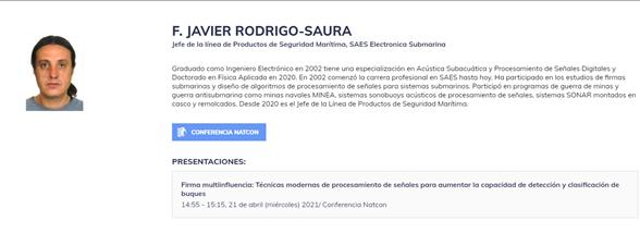 Presentación de la conferencia de SAES en NATCOM21